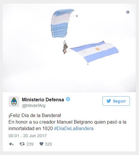 Sin desfile militar, Macri celebra el Día de la Bandera en Rosario