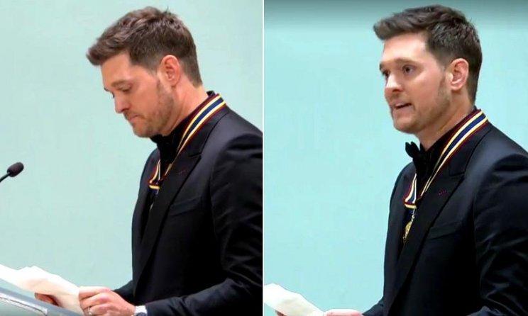 Michael Bublé se emocionó en público al hablar de Noah