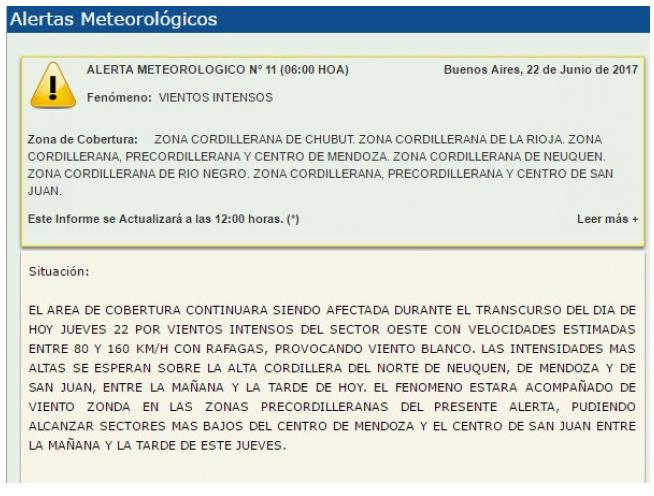 Se suspenden las clases en Potrerillos, Uspallata y alta montaña