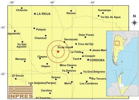 Fuerte temblor en Córdoba se sintió en La Rioja