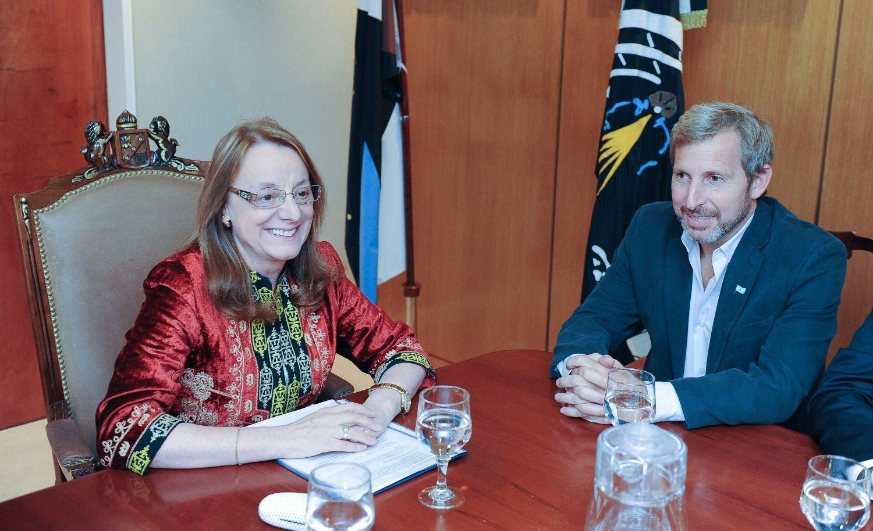 Alicia Kirchner se reúne con Frigerio por el pacto fiscal