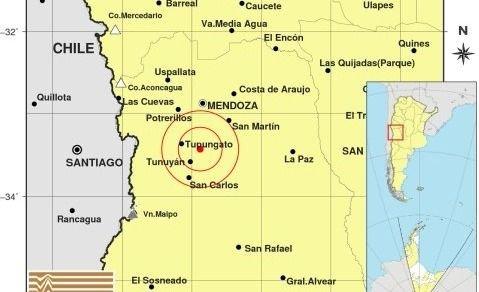 Un sismo de mediana intensidad despertó a los mendocinos