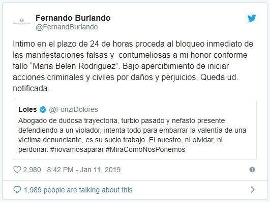 caso-thelma-fardin-dolores-fonzi-fernando-burlando-twitter-juicio