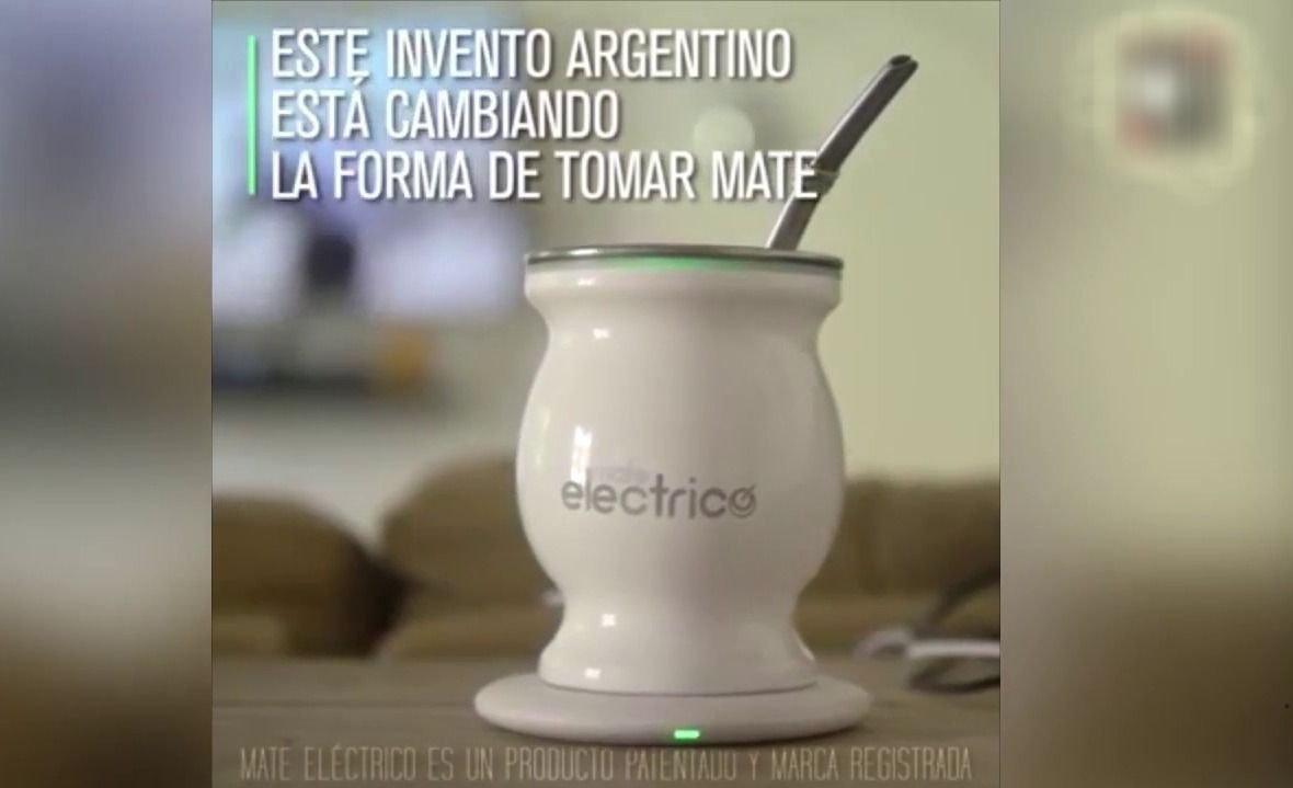 Presentaron el Mate eléctrico: se calienta por USB y no se lava la yerba