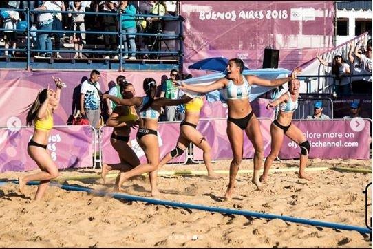 zoe turnes-fotos-sexy-hot-campeona-beach handball-selección argentina-juegos olímpicos de la juventud-medalla dorada-novio-nicolás lozano-instagram-redes sociales