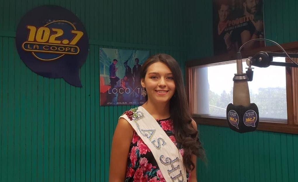 Griselda Gualpa, reina de Las Heras, en SMS