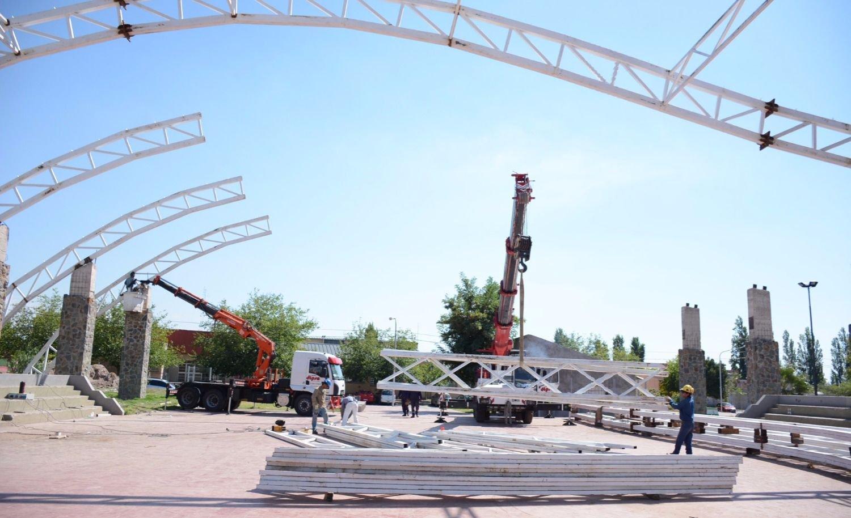 Las Heras remodela dos centros deportivos