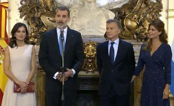 Macri recibió a Felipe VI de España en Casa Rosada