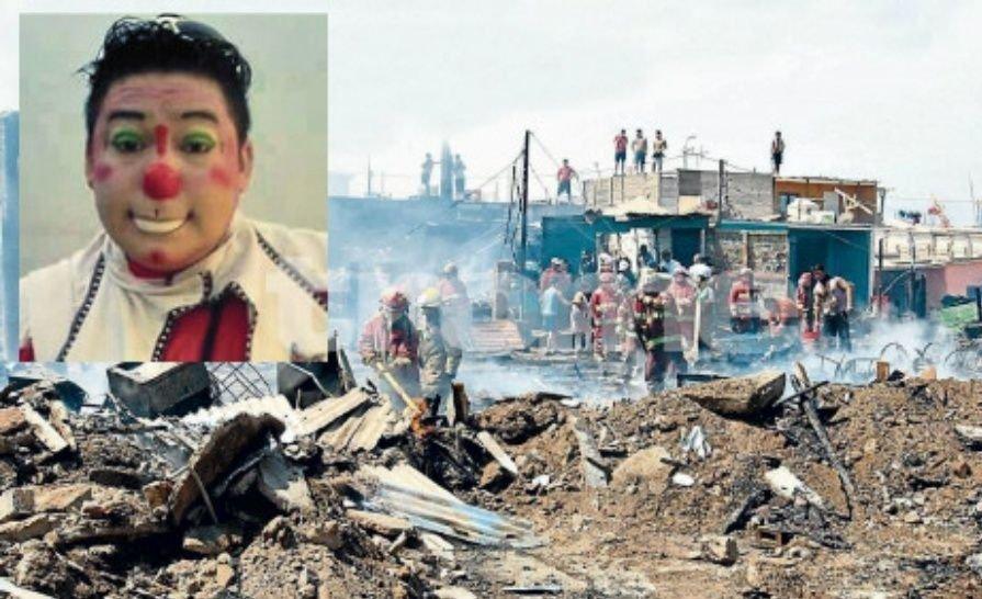 Un payaso salvó a decenas de niños de un tremendo incendio
