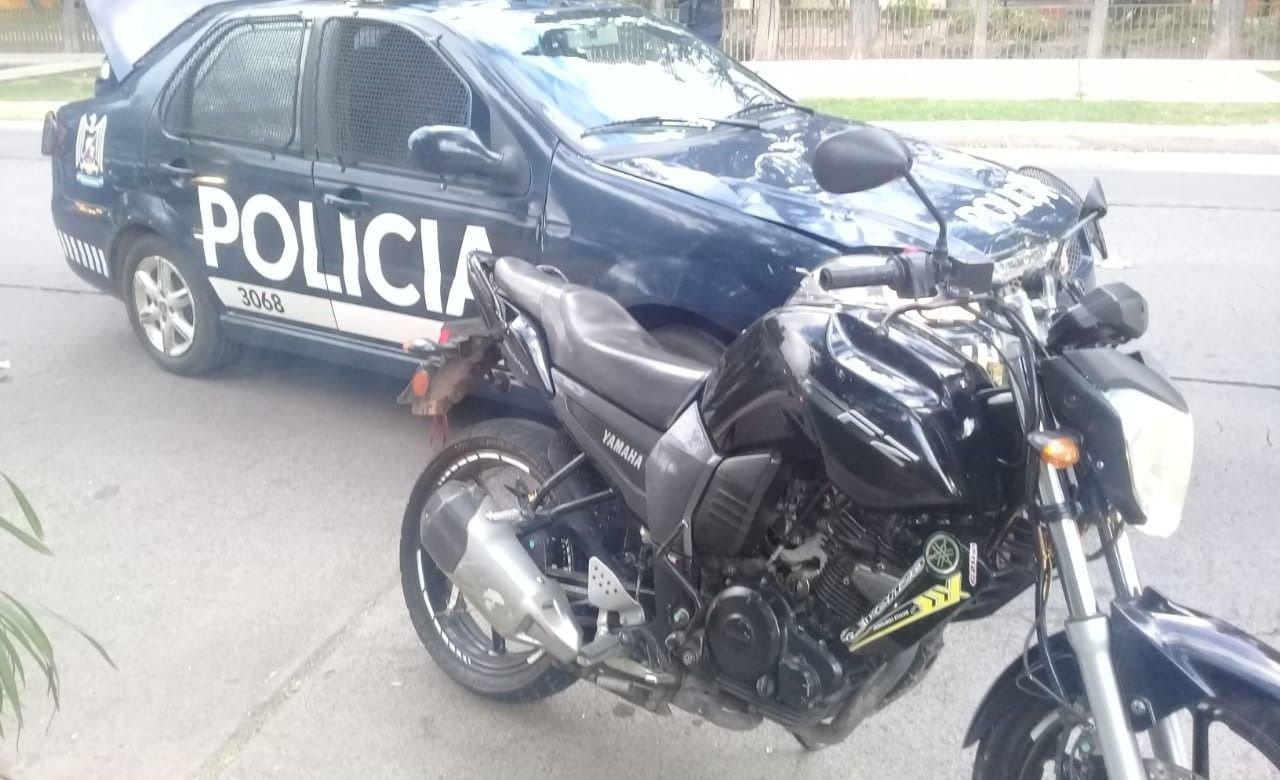 Los detuvieron con una moto que era buscada desde el 2018