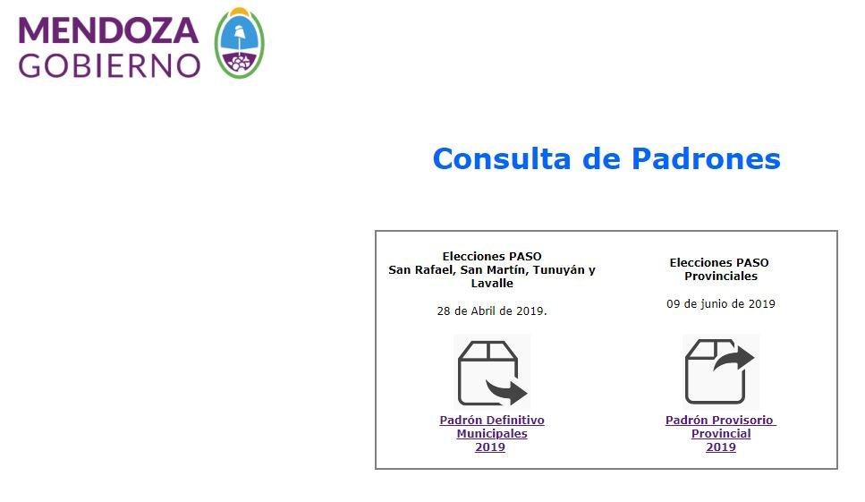PASO-mendoza-elecciones-san rafael-san martín-lavalle-tunuyán-indentende-concejal-padrón-instrucciones