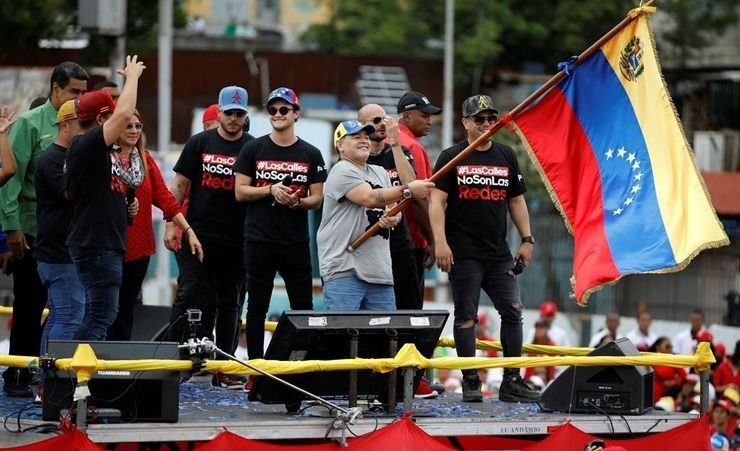 """Maradona en Venezuela: """"Soy soldado de Maduro"""""""