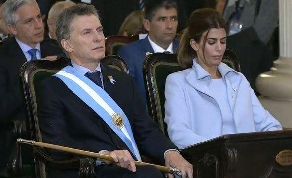Macri participó del Tedeum junto a su esposa