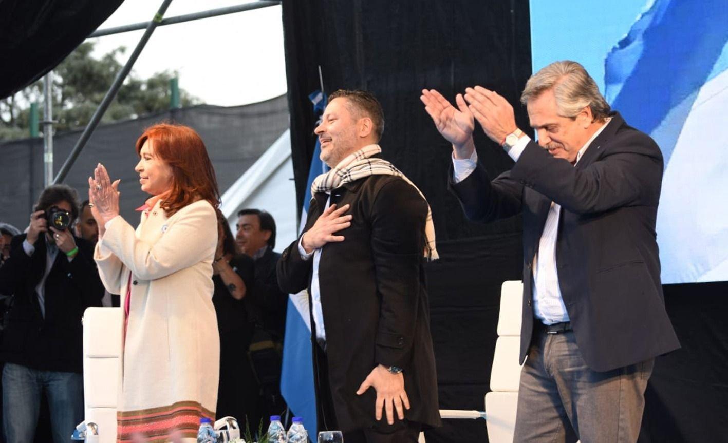 Alberto Fernández y Cristina Kirchner presentaron la fórmula en Merlo