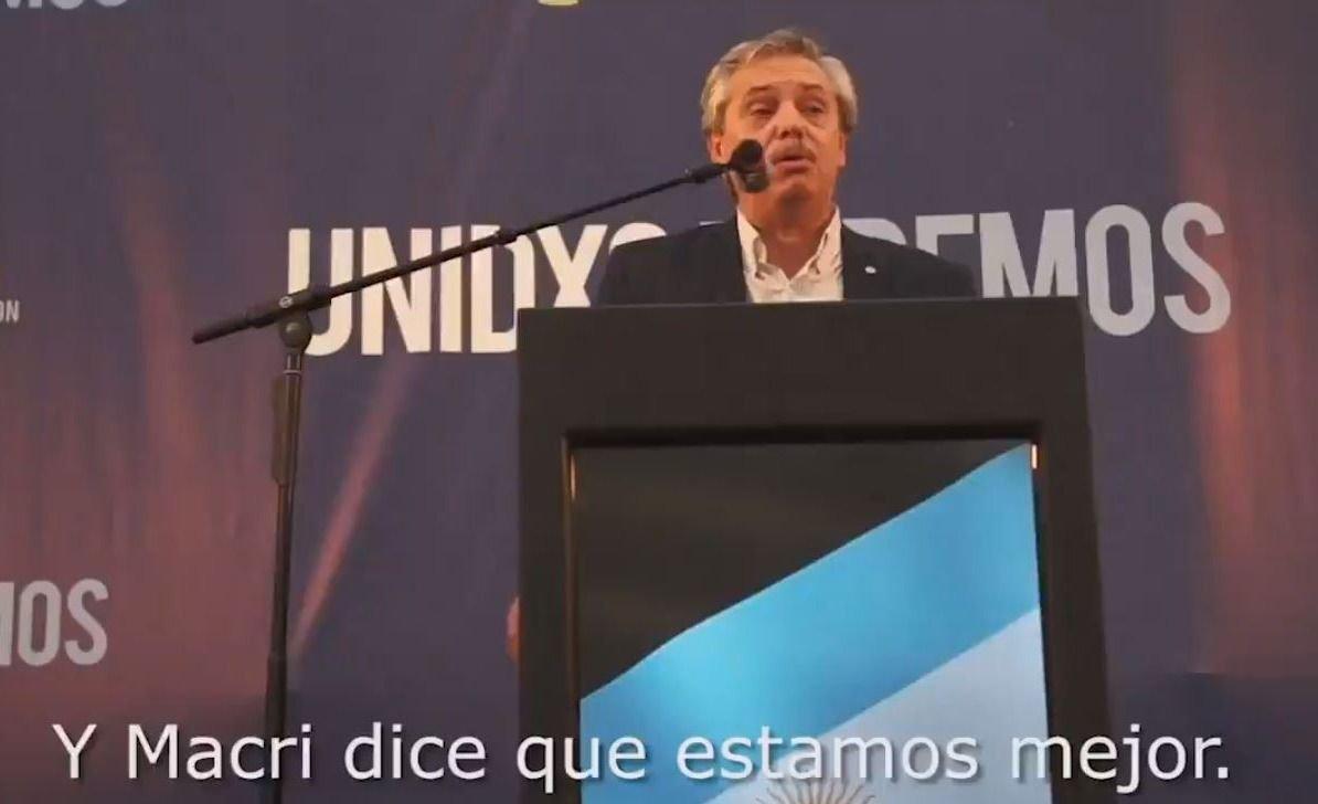 Alberto Fernández lanzó su primer spot de campaña con críticas a Macri