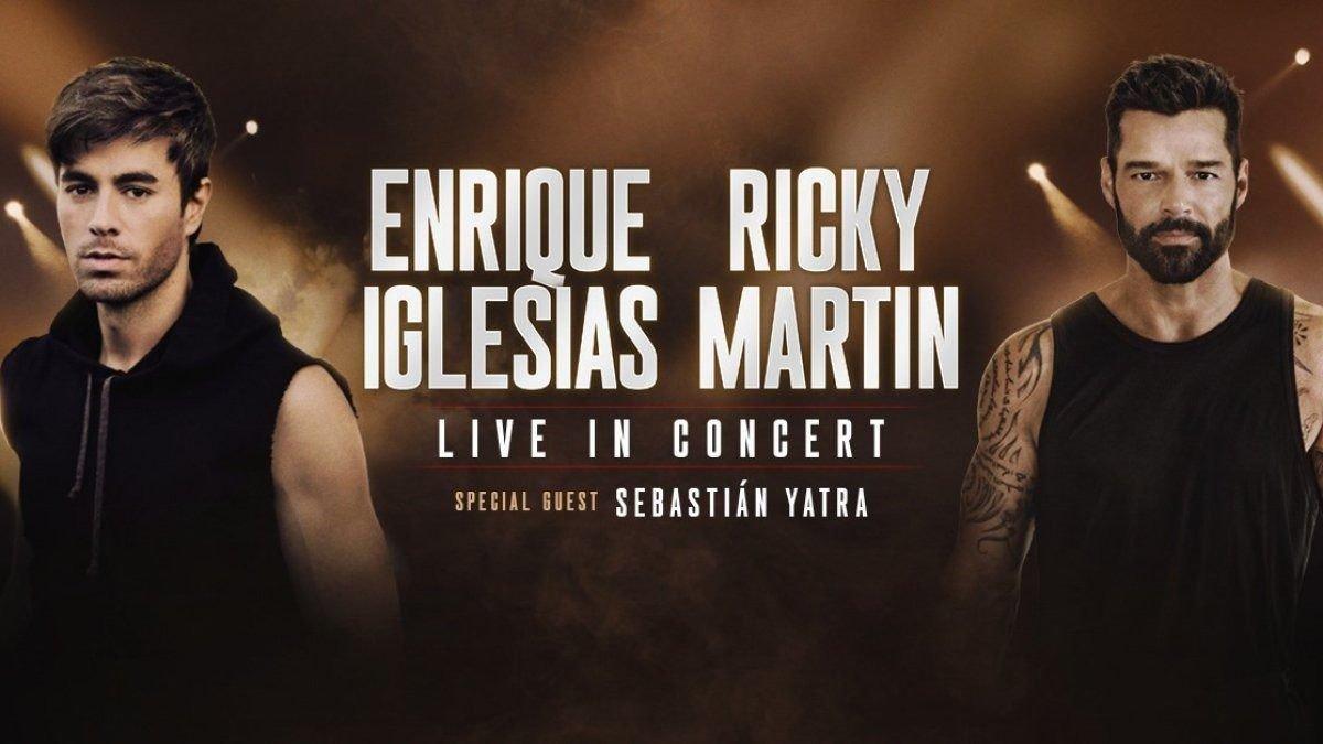 Ricky Martin y Enrique Iglesias vuelven a los escenarios con Sebastián Yatra