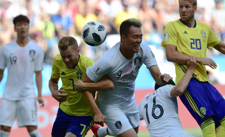 Suecia derrotó a Corea del Sur