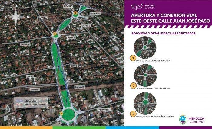 Iniciaron las obras para conectar la calle Paso con el Corredor del Oeste