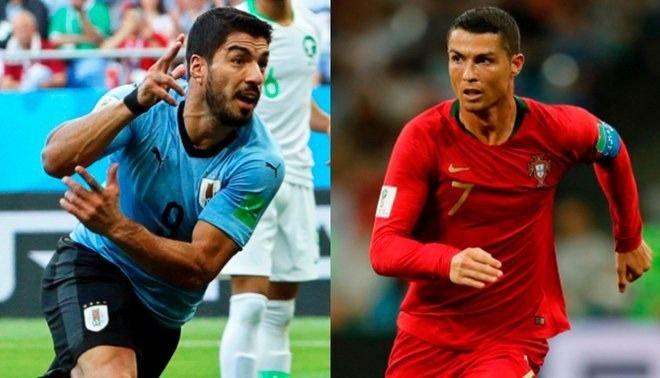 En un choque de candidatos se miden Portugal y Uruguay
