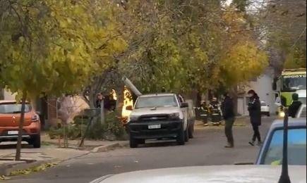 Un incendio se produjo en Godoy Cruz por una fuga de gas