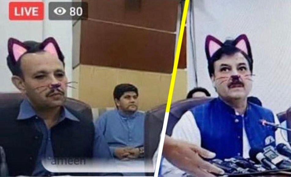 VIRAL | Un político olvidó apagar el filtro de gato durante una conferencia