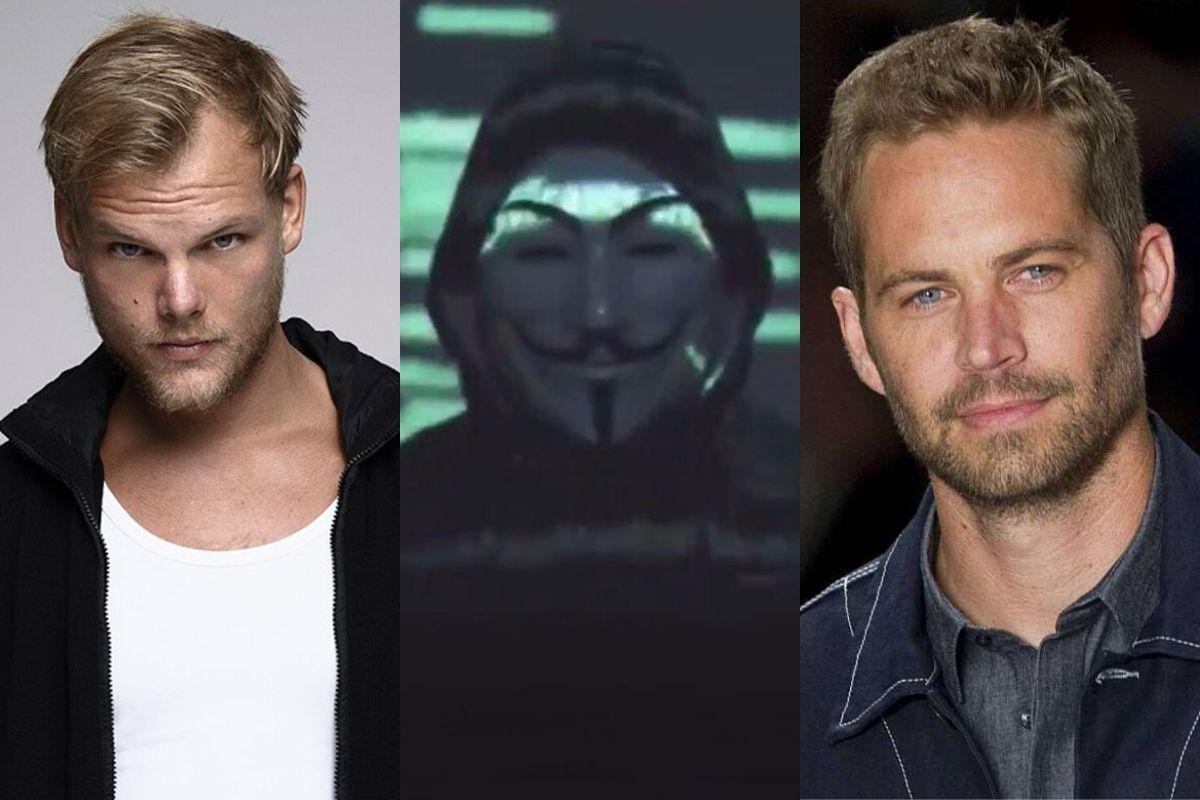 Anonymous asegura que Avicii y Paul Walker fueron asesinados
