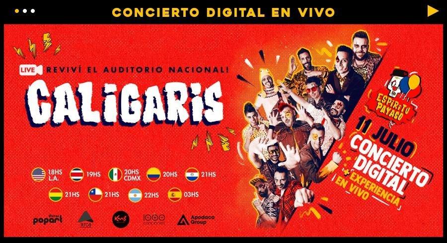 Los Caligaris   Nuevos detalles de su primer concierto online que viene con sorpresas