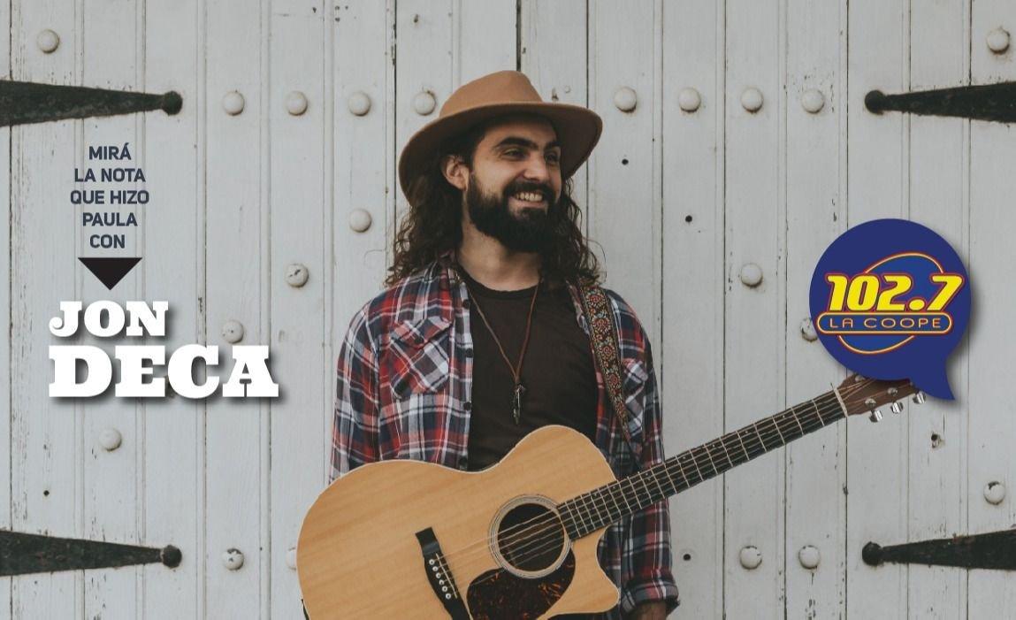 """ENTREVISTA   Jon Deca: """"Soy cantautor con guitarra, es lo que mueve mi música"""""""