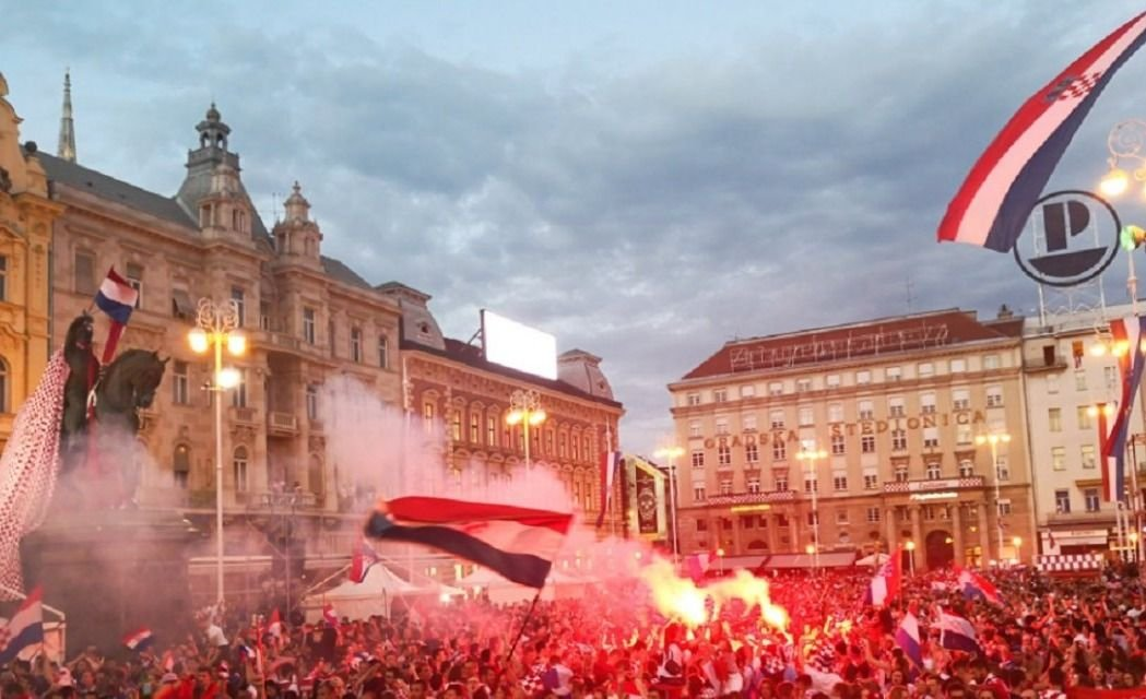 Miles de personas festejaron en Croacia a pesar de la derrota