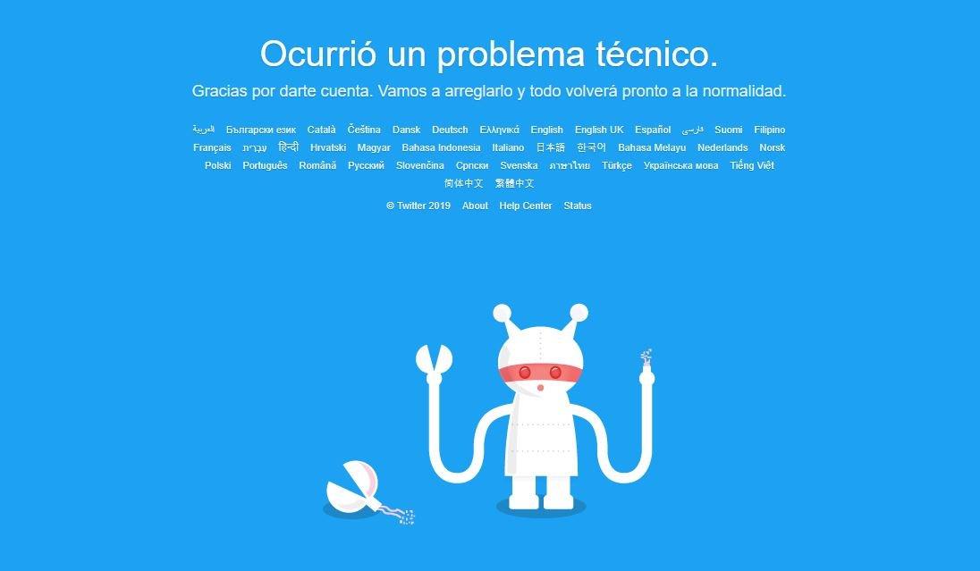 se cayó twitter red social pajarito mundial