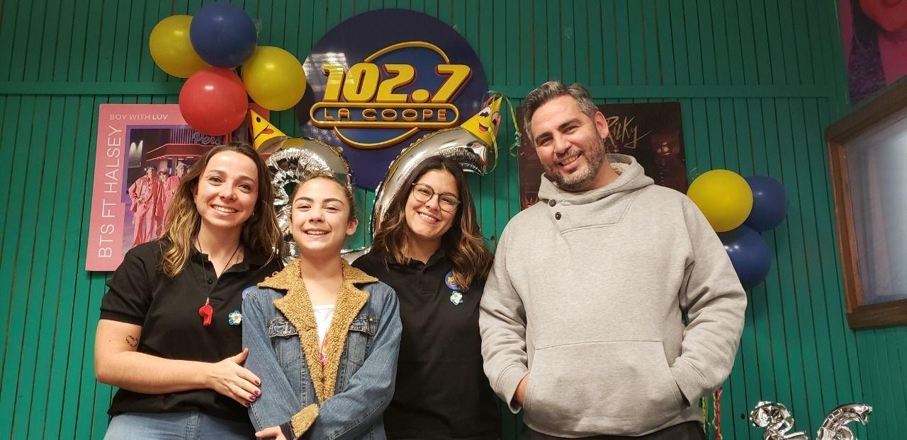 Camila Lour visitó La Coope