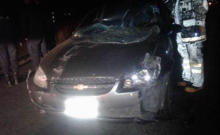 Tunuyán: un auto atropelló a un caballo y otro acabó volcando