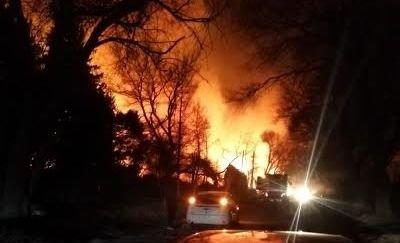 Voraz incendio en cerros de Potrerillos