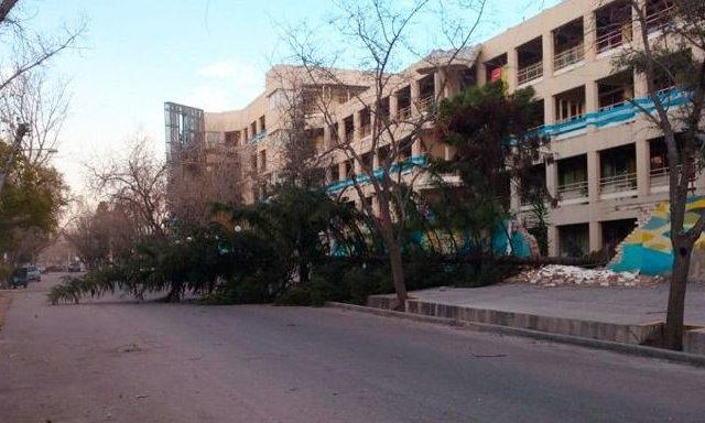 La Universidad Maza suspendió sus clases por el Viento Zonda