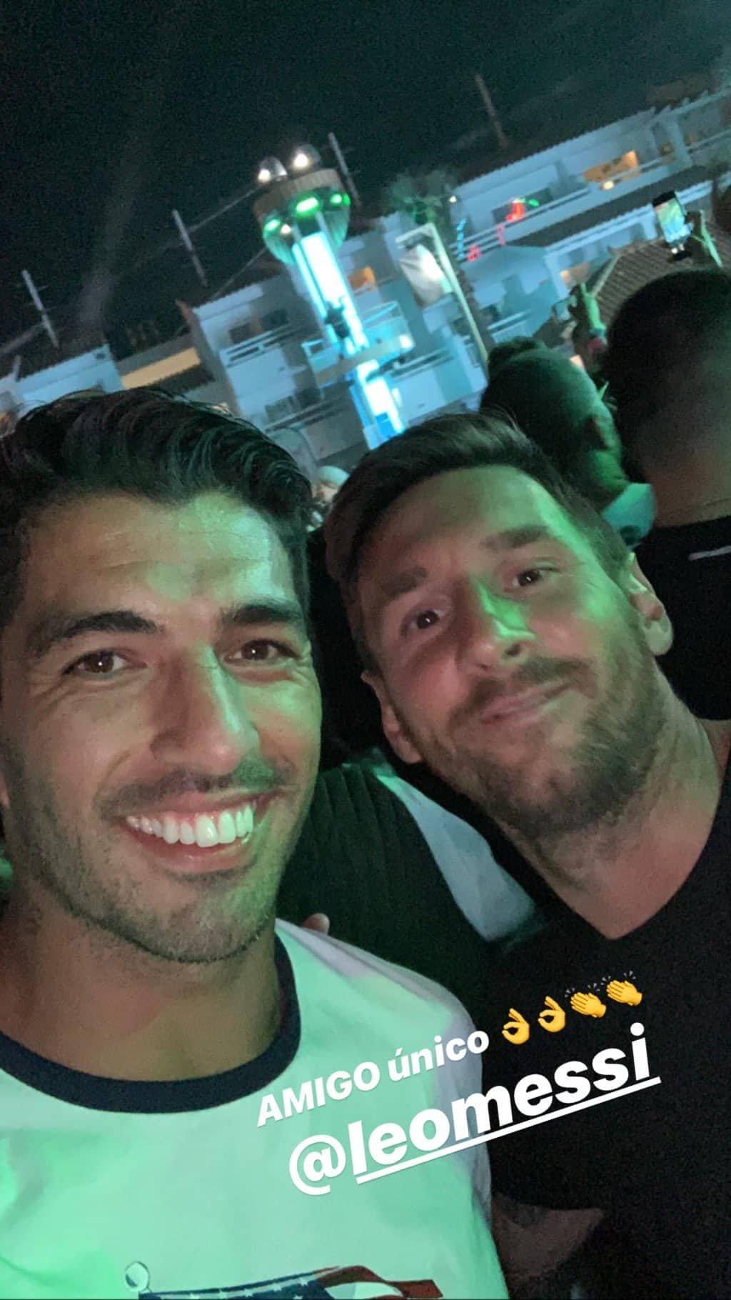 Lionel Messi Antonela Rocuzzo Ibiza Luis Suárez videos Instagram vacaciones Ozuna