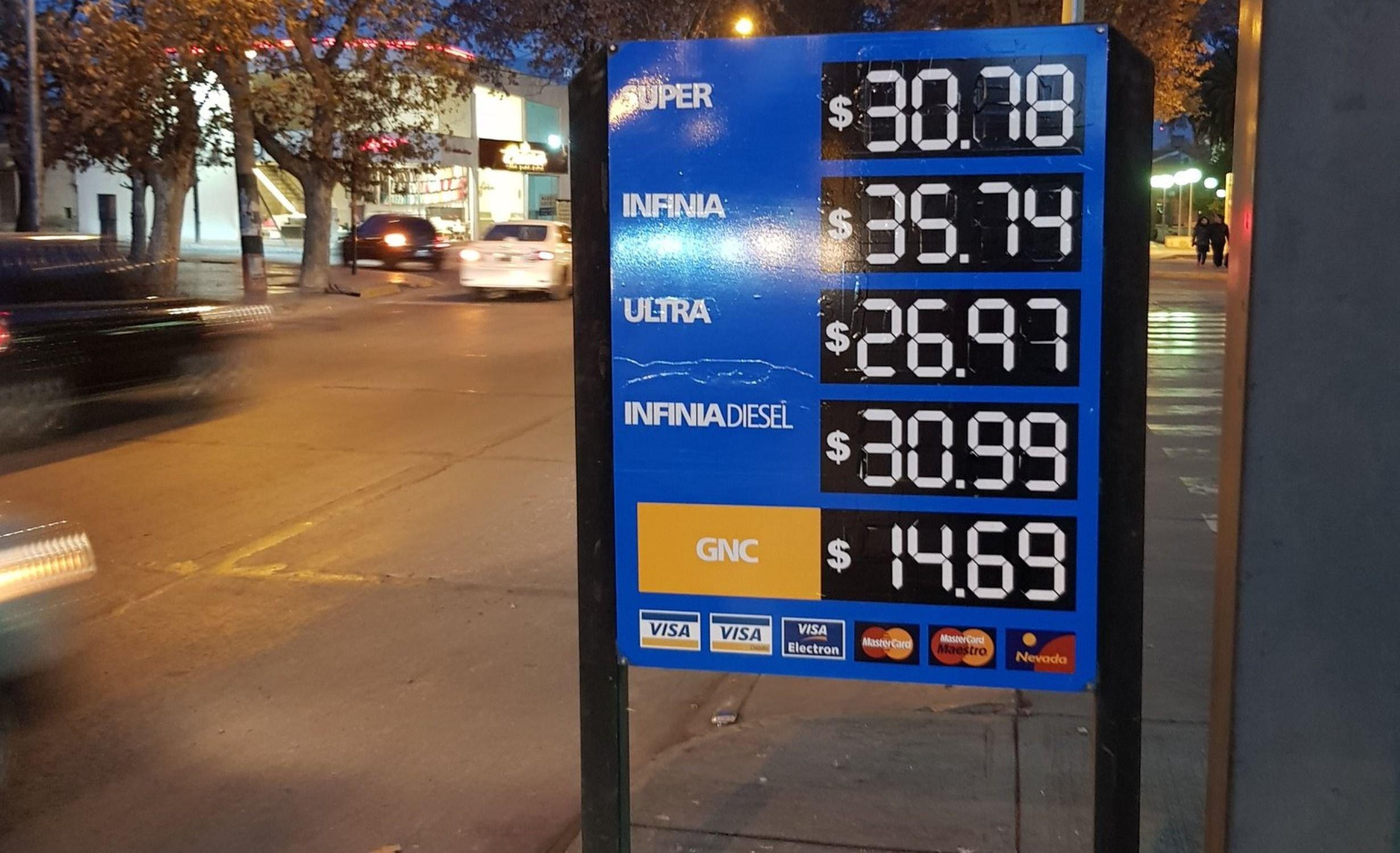 precio nafta mendoza ypf