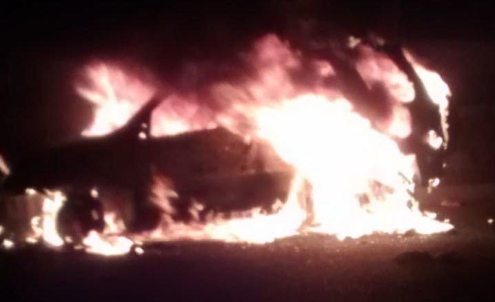 Encontraron incendiada una Ecosport robada en Las Heras