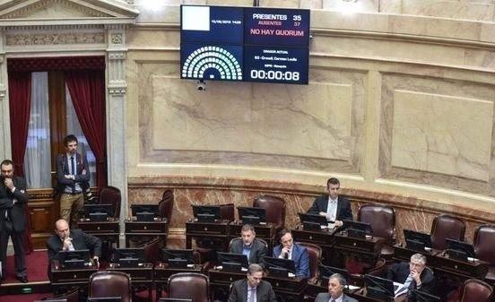 Senado | Por falta de quórum no se trató el proyecto sobre traspaso presidencial
