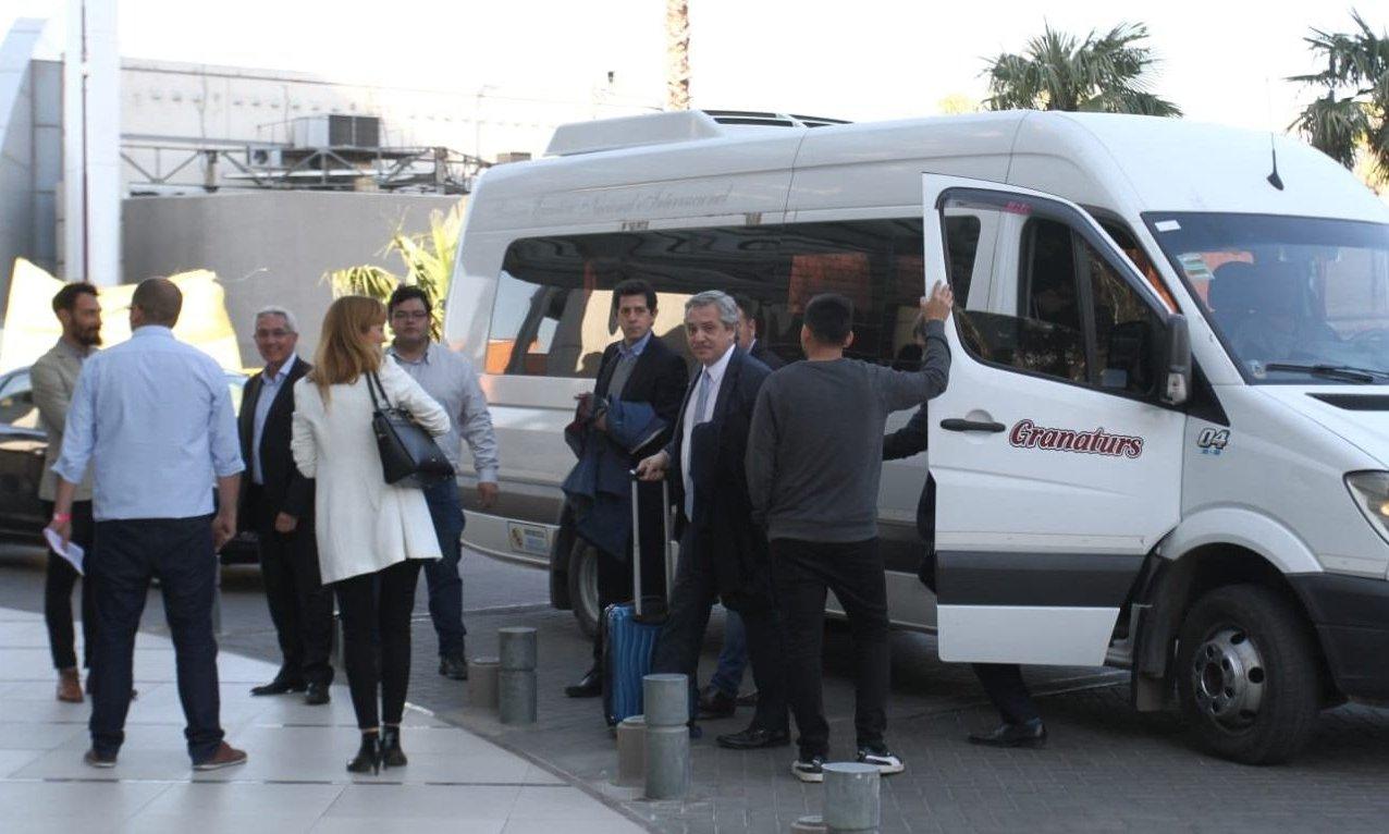 Alberto Fernández ya está en Mendoza