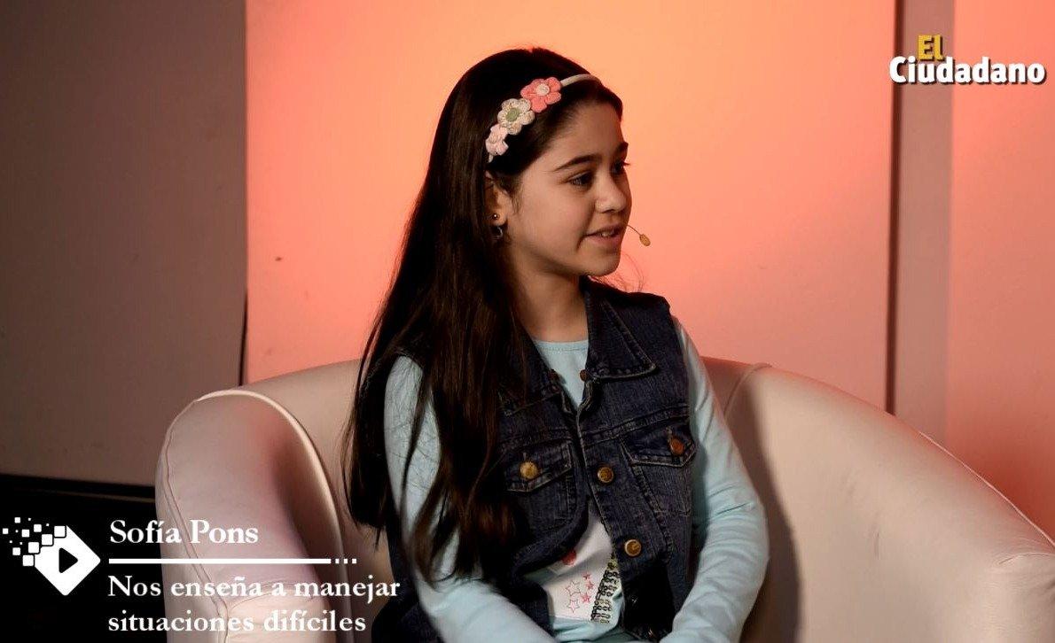 SOFÍA PONS | Tiene sólo 10 años y cuenta cómo es vivir con diabetes