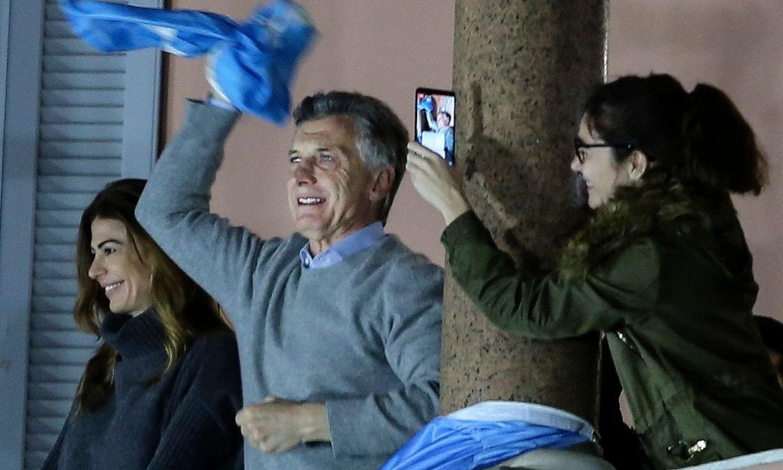 """#24A: Macri desde el balcón de Casa Rosada: """"Sigamos juntos que vale la pena"""""""