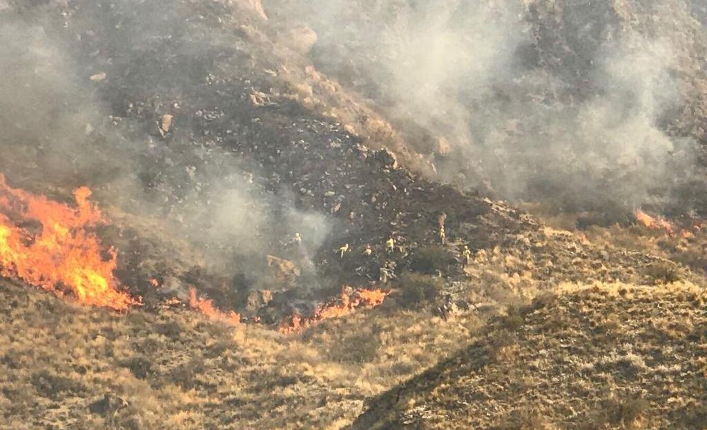 MENDOZA | El incendio en el Cerro Arco fue intencional: Bomberos trabajan en la zona