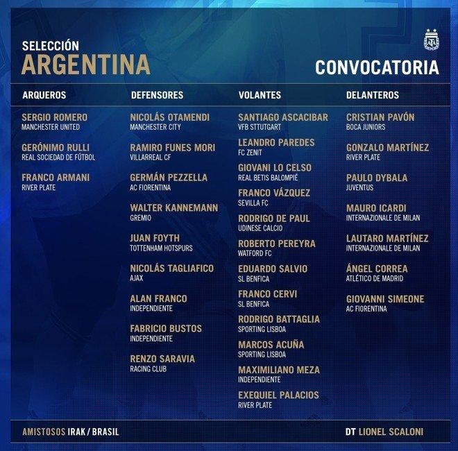 Scaloni dará la lista de convocados a la Selección el viernes