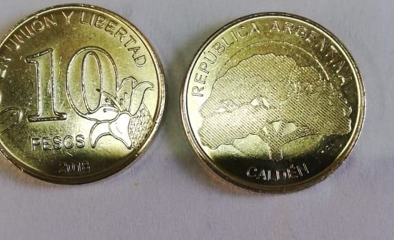 Ya se ven monedas de 10 pesos en Mendoza