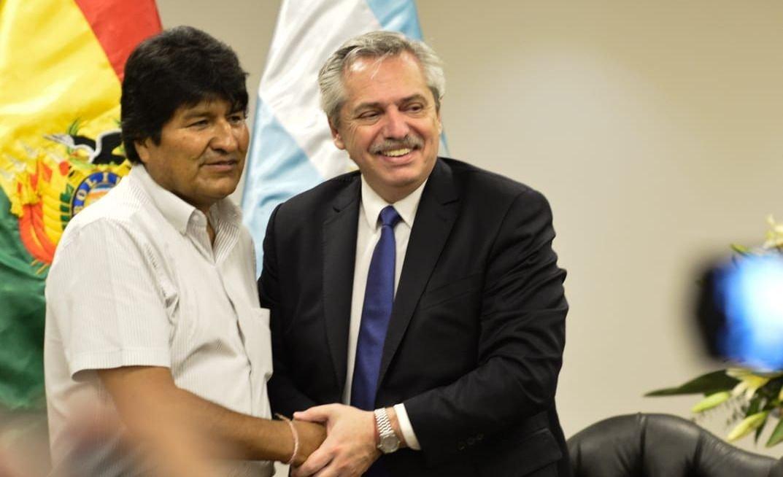 Evo Morales recibió a Alberto Fernández en Bolivia