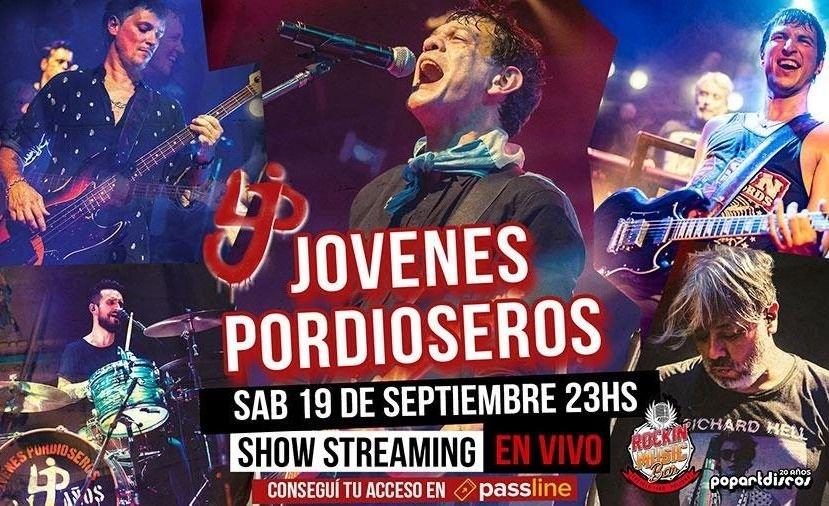 Jóvenes Pordioseros hará su primer show online