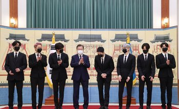 BTS fue reconocido por el gobierno  de Corea del Sur