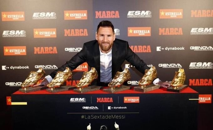 Lionel Messi se quedó por sexta vez con el Botín de Oro
