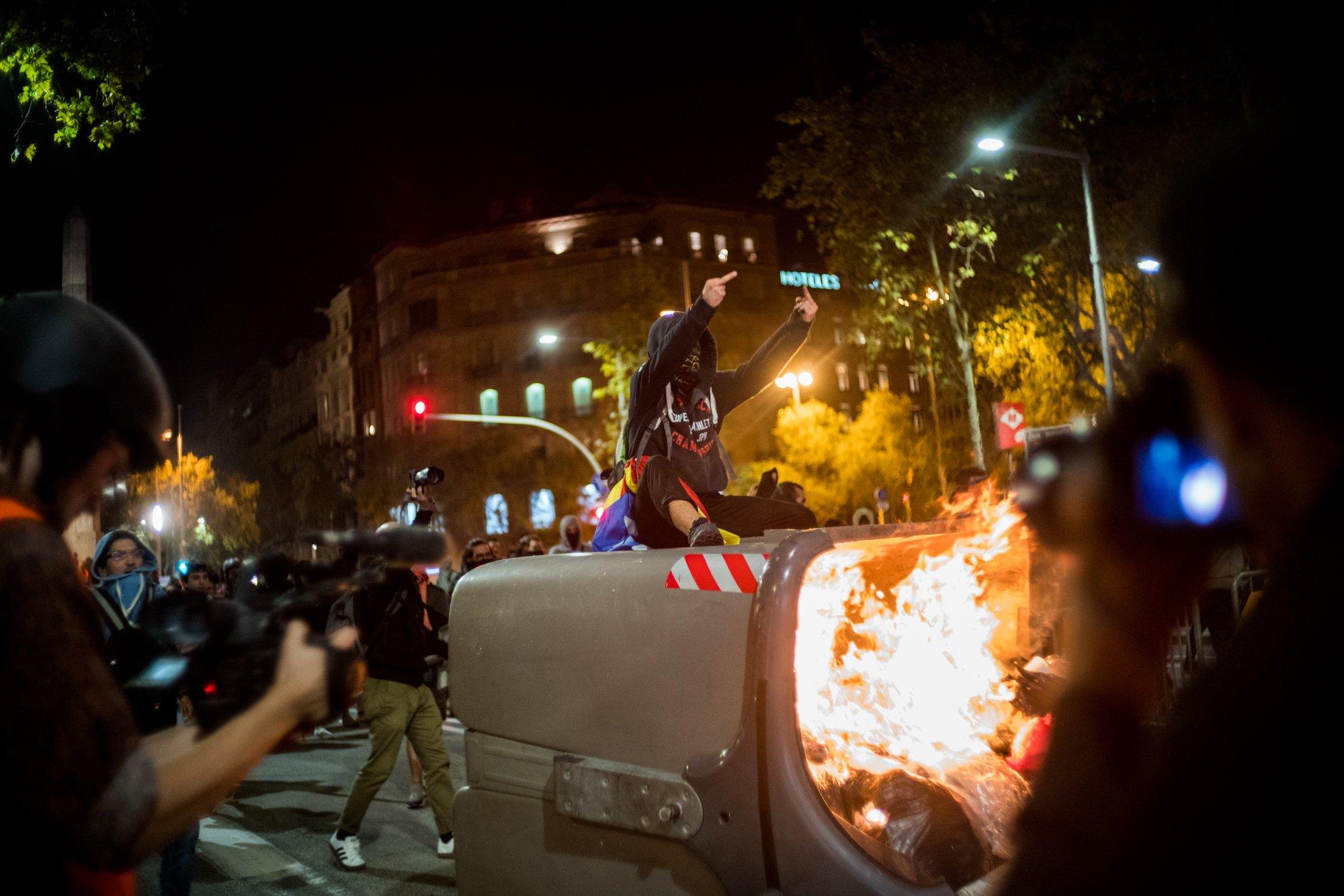 España Cataluña Barcelona Incidentes enfrentamientos Tsunami Democrático