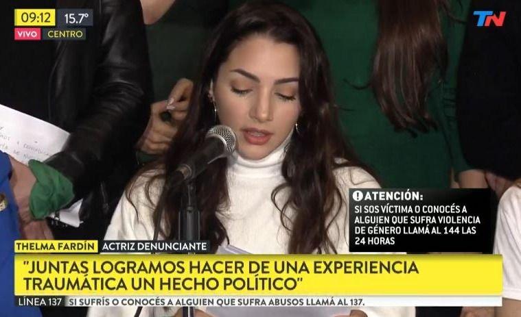 """Thelma Fardín: """"Estamos más cerca de tener justicia"""""""
